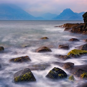 The Cuillin Mountains & Rocky Shores of Loch Scavaig, Elgol, Scotland.