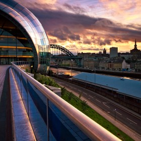 Millennium & Tyne Bridges taken during sunset.