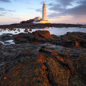 Up at the crack of dawn, St Mary's Lighthouse, Whitley Bay, Tyne & Wear, England.