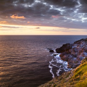 Sunset at Trevose Head Lighthouse, Cornwall.
