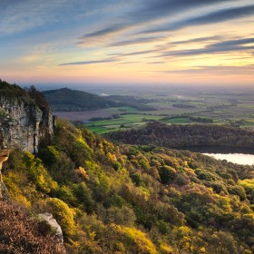 Cliff overhang, sutton bank, north Yorkshire.