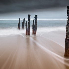 Decaying Groynes, Cambois Beach