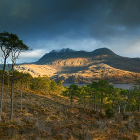 Slioch Mountain, Wester Ross, Scotland.