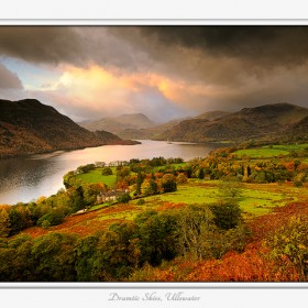 Dramatic skies over Ullswater during a passing storm.