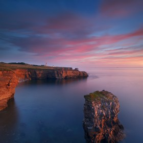 Sunrise at Whitburn Coast.