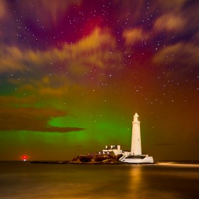 Aurora Borealis puts on a stunning show at St Mary's Island.