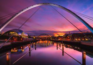 Millennium & Tyne Bridges taken during sunset.