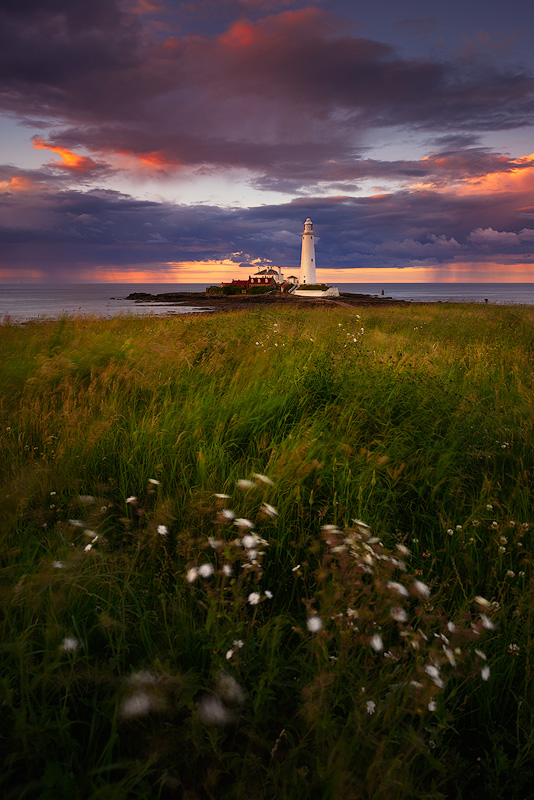 Fiery Skies, St Mary's Lighthouse